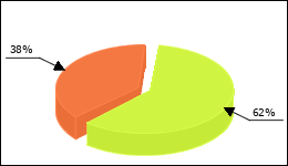 Zyprexa Circle Diagram 172 consumers of 276 reported about Increase in weight